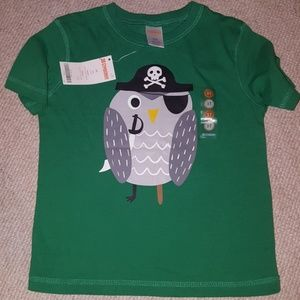 Gymboree pirate owl t-shit